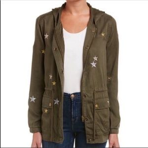 Green Embroidered Utility Anorak Field Jacket